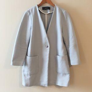 Zara oversized coat with one button closure, sz M